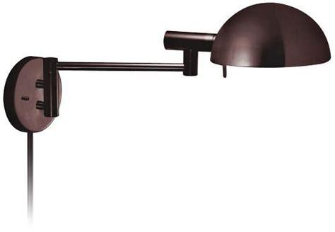 sonneman dome rose bronze plug swing arm wall