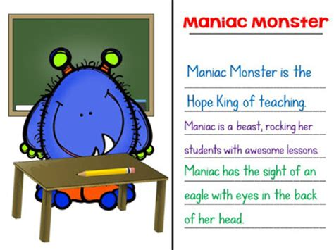 monster metaphors sssteaching