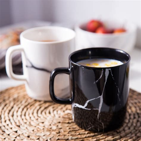 aliexpress buy 300ml ceramic marble design coffee tea