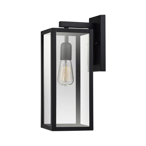 globe electric bowery 1 light matte black outdoor