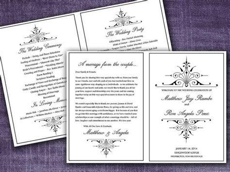 victorian romance fold wedding program template microsoft word