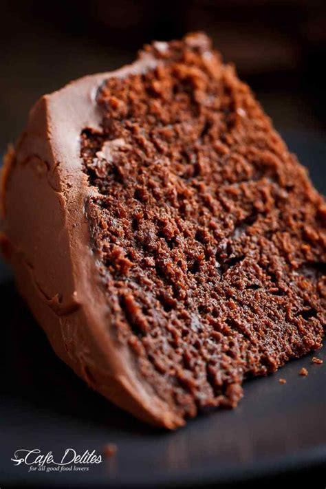 fudgy chocolate cake cafe delites mit bildern schokoladenkuchen