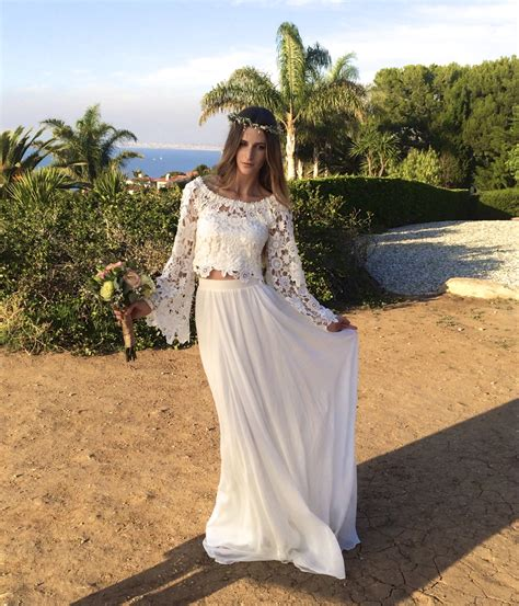boho lace top silk chiffon skirt dreamers lovers