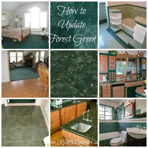 paint colours update forest green green countertops paint