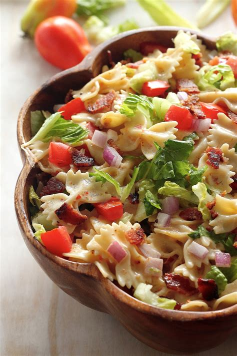 20 minute blt easy pasta salad baker nature