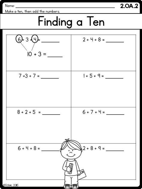 2nd grade math printables worksheets operations algebraic thinking
