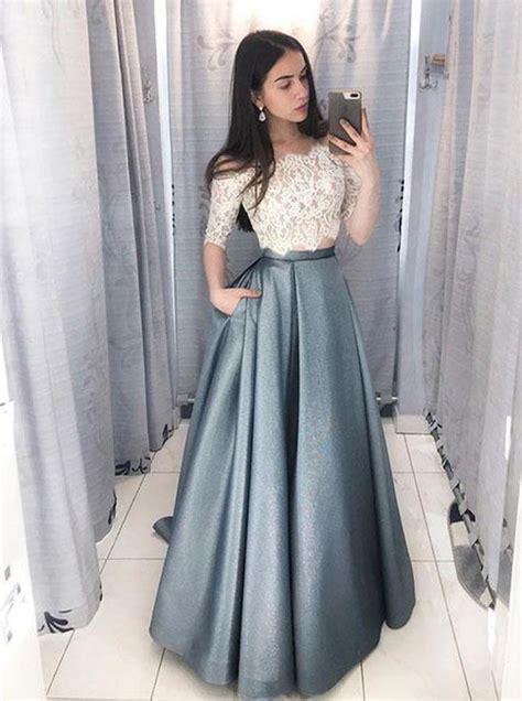 piece prom dresses line prom dress sleeves 11943