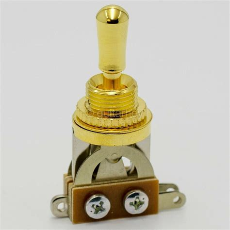 gold straight short 3 toggle switch gibson epiphone