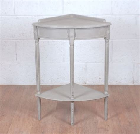 shabby chic corner side hall table french grey