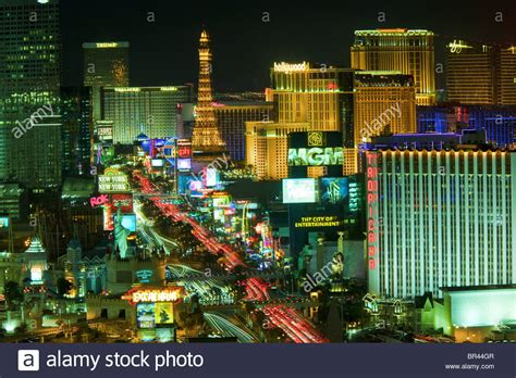strip mgm grand hotel night las vegas usa