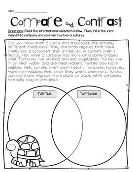 compare contrast handouts jacobs teaching resources tpt