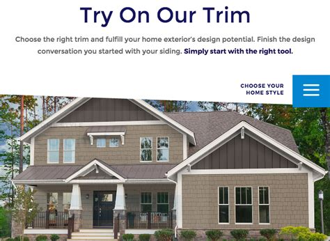 online design tool helps choose exterior trim residential