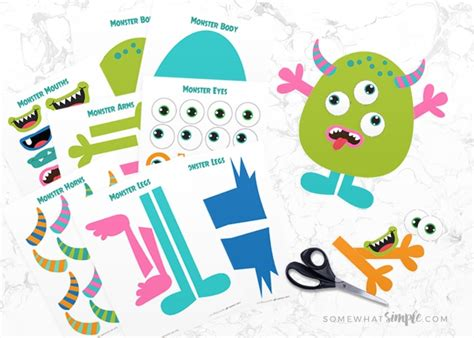 build monster free printable craft kit simple