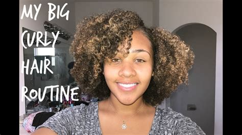 big curly hair routine wash youtube