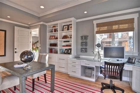 20 colorful ways enliven gray home office