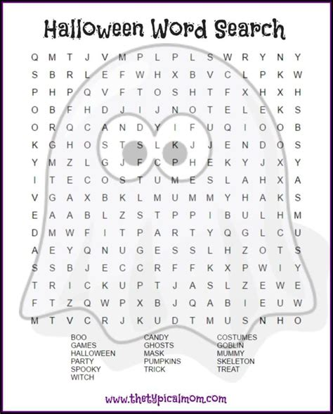 halloween word search printable typical mom