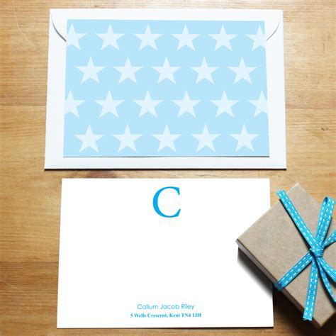 blue star correspondence cards personalisedgiftsboutique blue star corre