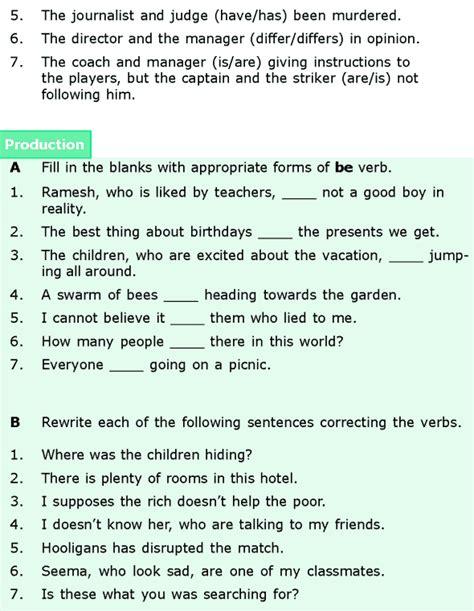 grade 6 grammar lesson 7 subject verb agreement