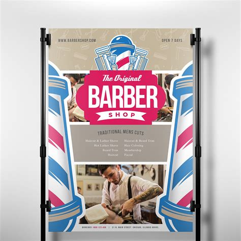 a3 barber shop poster template ai vector brandpacks