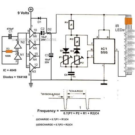 infrared ir led flood light circuit homemade circuit