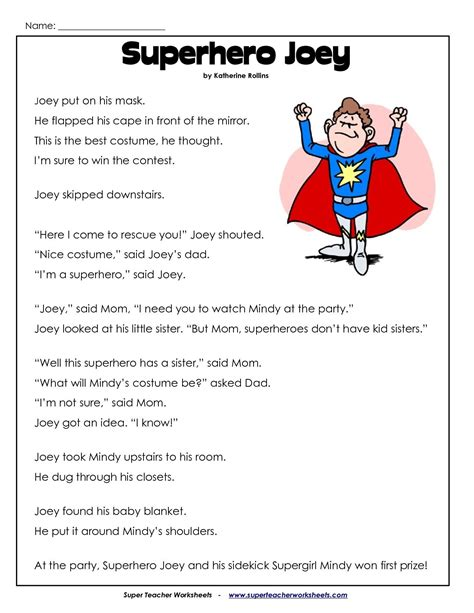 2nd grade reading comprehension worksheets images reading comprehension
