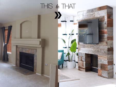 amazing reclaimed wood fireplace home garden