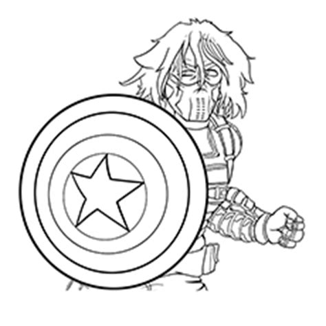 awesome captain america logo coloring pages