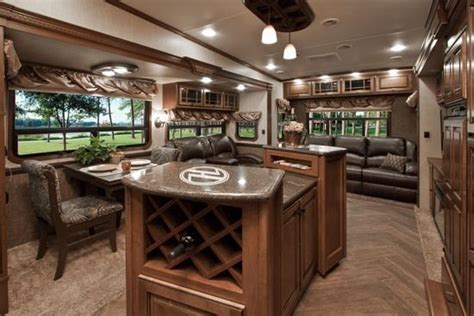50 amazing motorhome rv trailer interiors luxury wheel