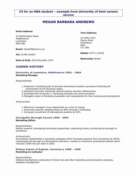 resume format 3 years experience marketing resume format