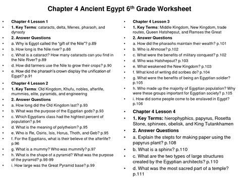 social studies worksheets 6th grade printable