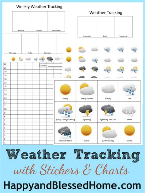 preschool activities weather tracking happy blessed home