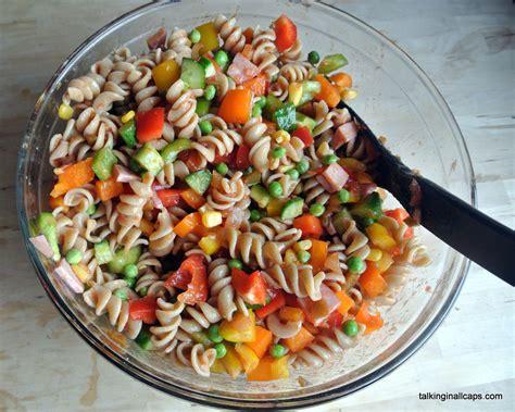 quick easy pasta salad talking caps