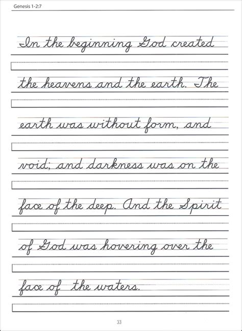 scripture character writing worksheets nealian beginning cursive italic