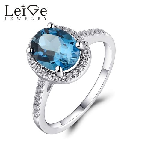 leige jewelry london blue topaz engagement ring sterling