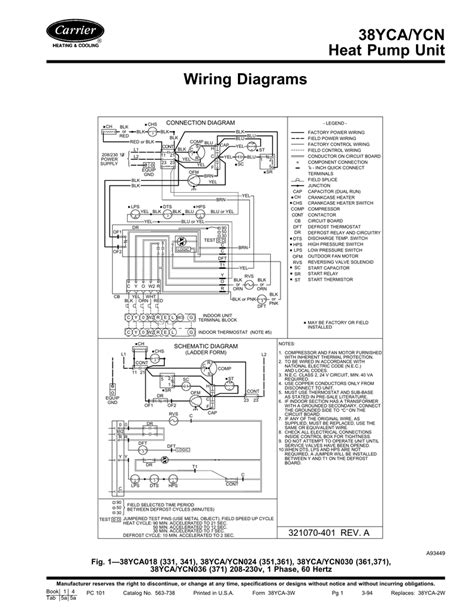 38yca ycn heat pump unit wiring diagrams manualzz
