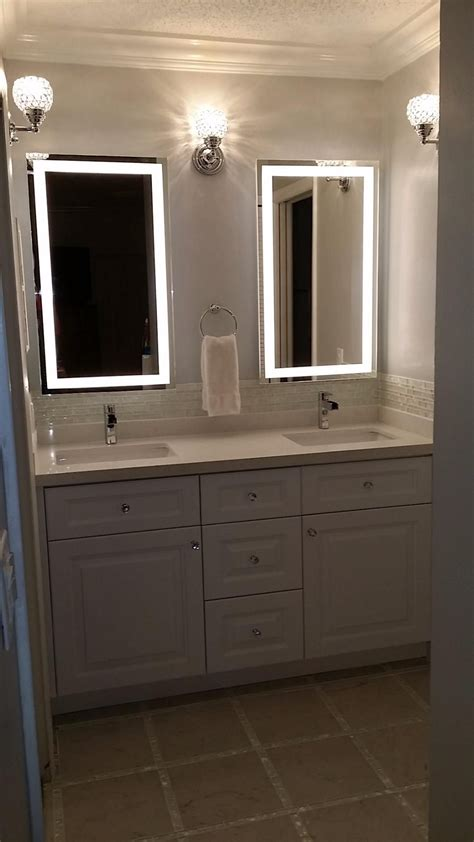 amazon lighted led frameless backlit wall mirror