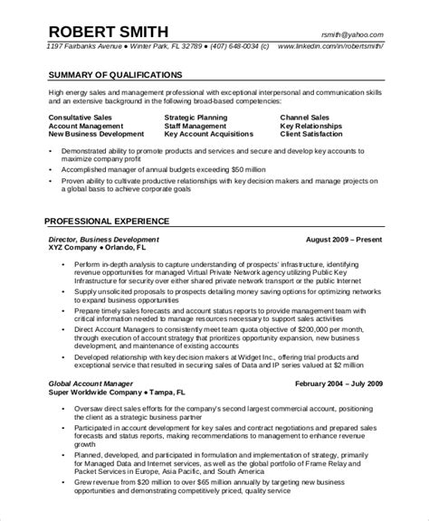 free 8 professional resume sles ms word