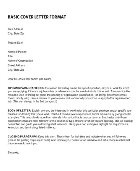free 6 sle resume cover letter formats ms