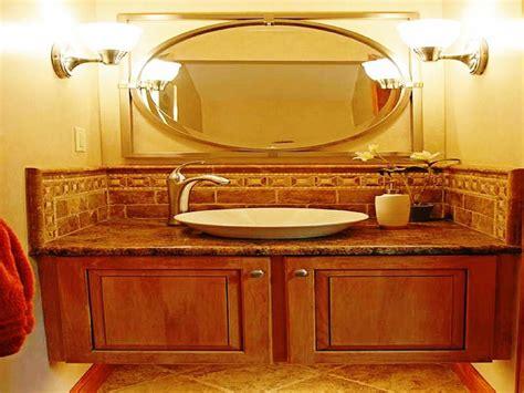large oval bathroom mirrors decor