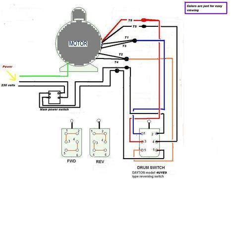 wiring diagram 220 volt single phase motor diagram