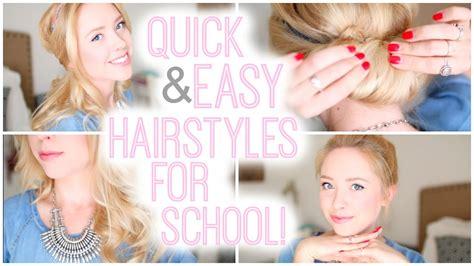 quick easy hairstyles school 2015 youtube