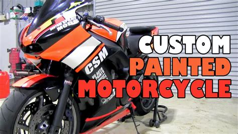 custom painted motorcycle youtube
