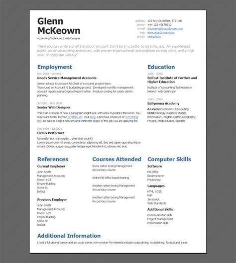 50 professional html resume templates cv resume template