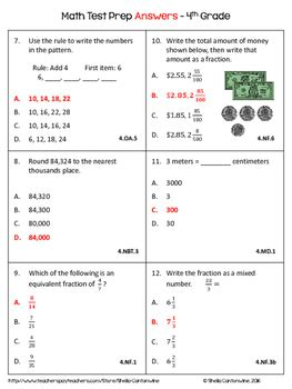 4th grade math review worksheets sheila cantonwine tpt