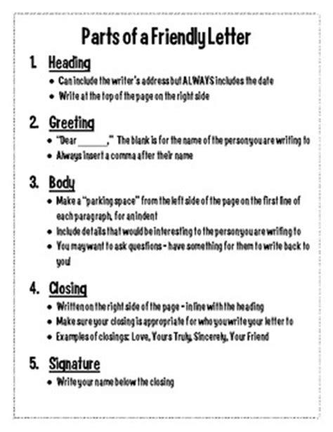 parts friendly letter handout grade hk tpt