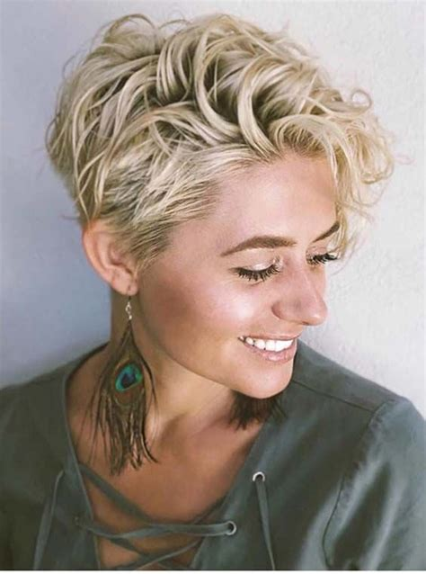 46 short curly blonde haircuts 2018 short blonde