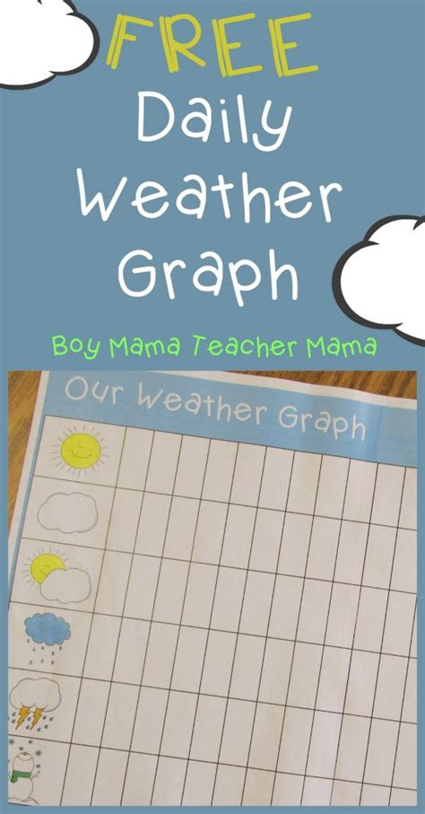teacher mama free printable daily weather graph boy