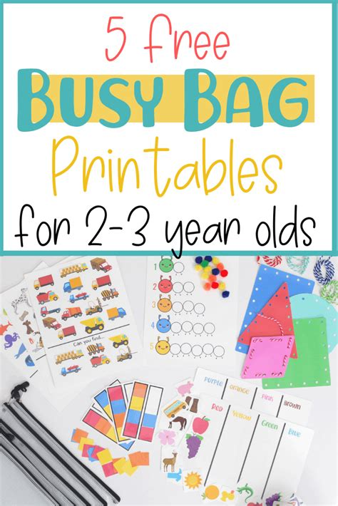 5 free busy bag printable activities toddlers preschool