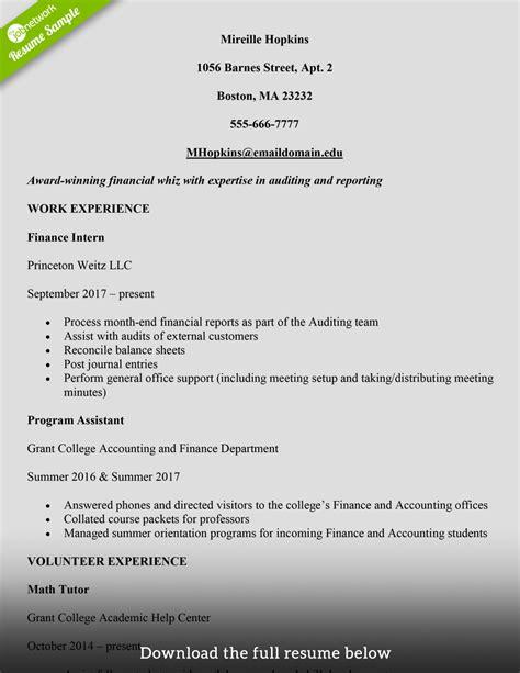 write college student resume exles