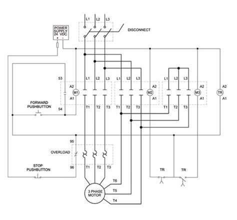 3 phase motor wiring diagrams stop engineering images